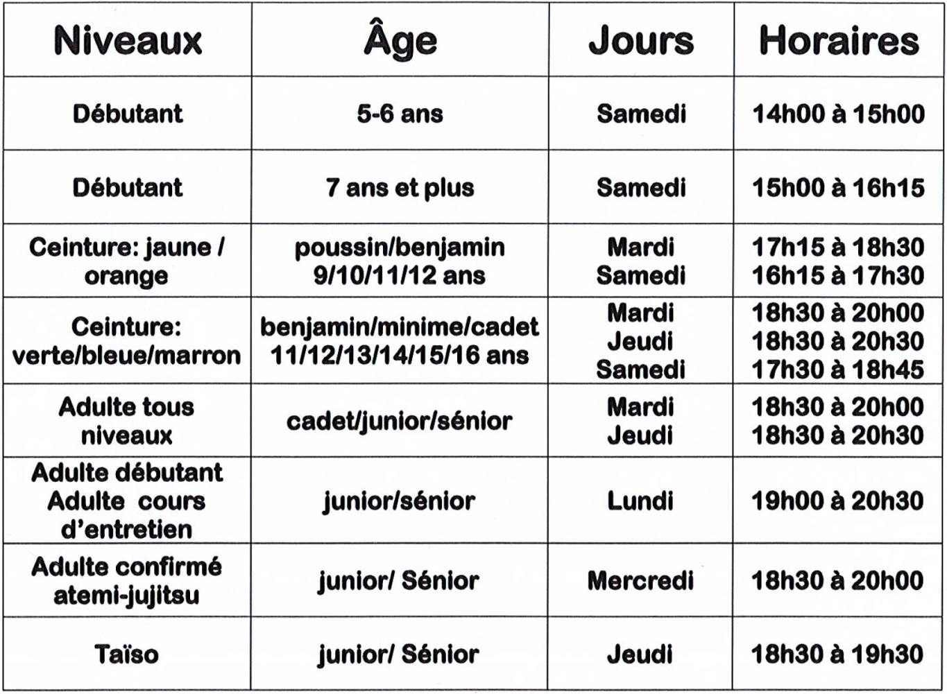 Horaires-cours-judo