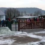 Arrivée des élèves de Sauchay