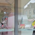 Les vitrines des commerçants