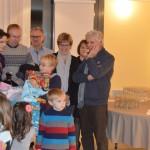 Les enfants devant le père Noël