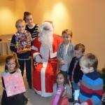 Le père Noël avec les enfants