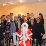 Le père Noël avec le personnel municipal