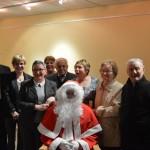 Le père Noël avec les retraités des services municipaux