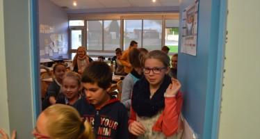 Exercice d'évacuation à l'école Le Vallon