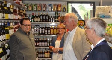 Inauguration de l'épicerie Le panier sympa
