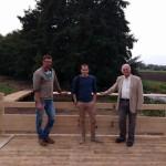 Mr le Maire et les responsables du chantier