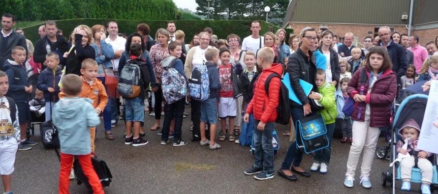 Rentrée scolaire au groupe scolaire Le Vallon