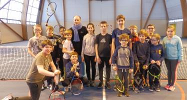Franc succès pour l'animation de Noël du club de tennis