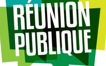 Réunion publique PLU