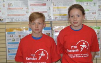 Ecole des champions : Sacha et Cyprien sont les petits champions 2019