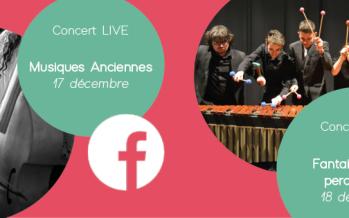 Concerts en LIVE Facebook organisés par le Conservatoire Camille Saint-Saëns