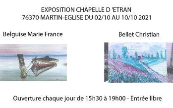 La chapelle d'Etran accueille une nouvelle exposition